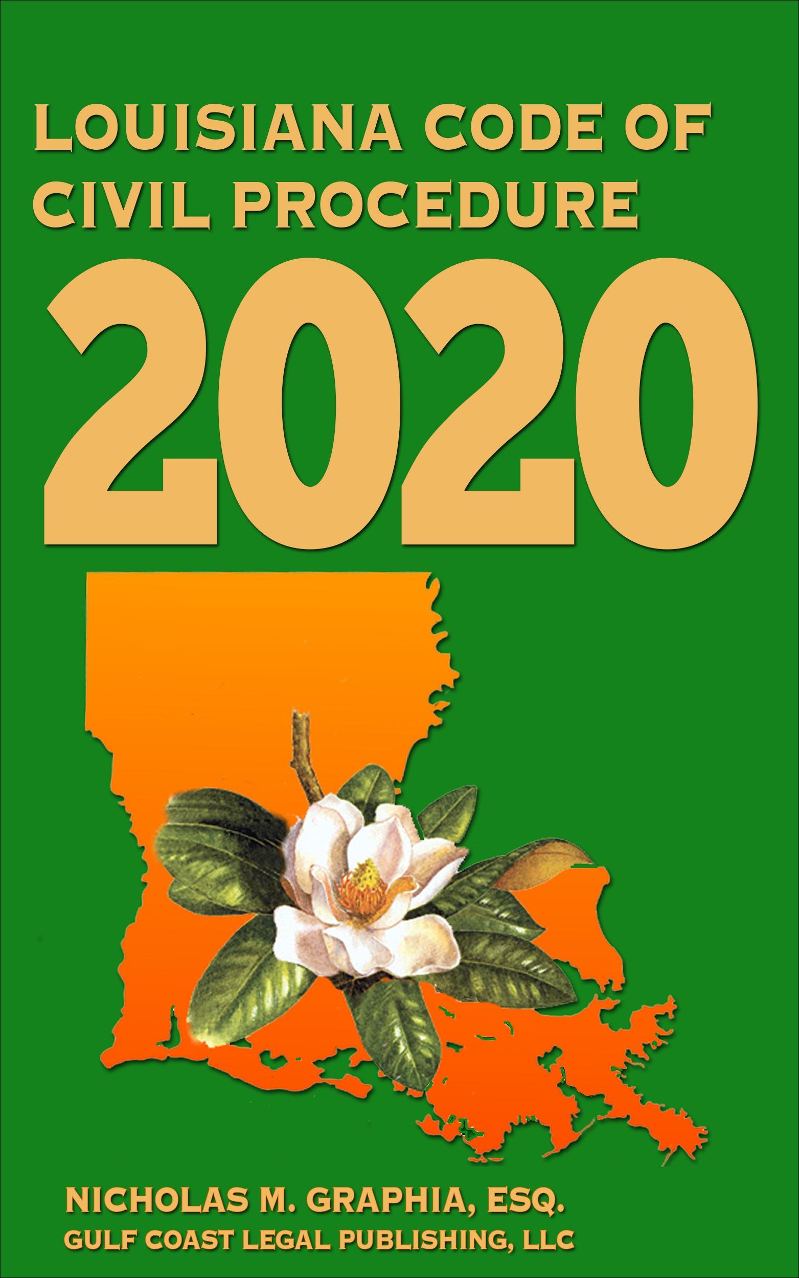 2020LouisianaCodeofCivilProcedure.eBookCover